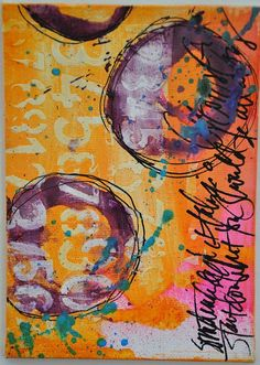 Dina Wakely - using dylusions ink and stencils - gorgeous vibrant colors! Dy 05