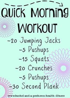 Quick Workouts To Lose Weight Fast