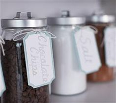 Small Pantry Jars- all my jars will like this