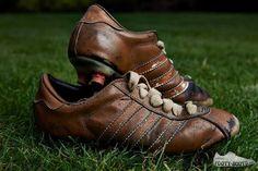 Robin Van Persie's first football boots.