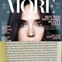 Press ... As seen in the November issue of More Magazine..  Eyelash extensions