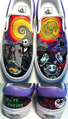 New! The Nightmare Before Christmas Jack Sally Handpainted Custom ...