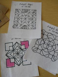 The Elementary Art Room!: Rangoli Designs from India