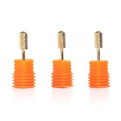 MAKARTT 3pcs/set 3/32' Electric Gold Carbide Nail Art Drill Coarse File Medium Bits Manicure * Check out the image by visiting the link.