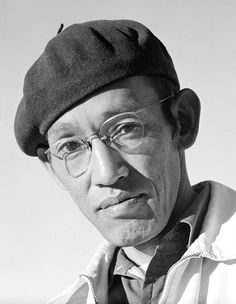 Tōyō Miyatake (1896–1979) Japanese American Photographer, best known for photographs documenting Japanese- Americans & their Internment at Manzanar during WWII. Born in Kagawa, Shikoku, Japan, 1896; migrated to U.S.1906 to join his father. Settled in Little Tokyo in L.A.,California. (photo by Ansel Adams 1943) http://en.wikipedia.org/wiki/File:Manzanar_portrait_Toyo_Miyatake_00100u.jpg