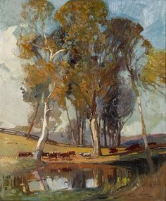 Sydney Long . oil landscape