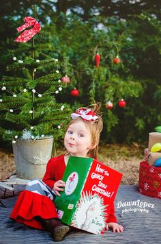 how the grinch stole christmas mini session cindy lu who fort worth texas child photographer dawn lopez photography