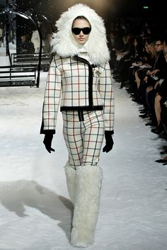 Boots and hat. Moncler Gamme Rouge Fall 2012 Ready-to-Wear Fashion Show
