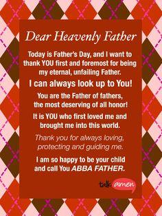 Thank you, Father (via Tina Koch)