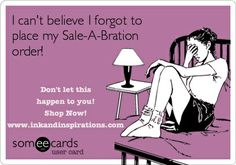 Time is running out!  Stampin' Up! Sale-A-Bration ends March 31, 2014! www.inkandinspirations.com