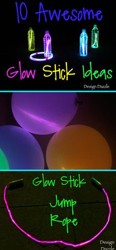 10 Awesome & Creative Glow Stick Craft Ideas & Activities for Summer Camp 10 awesome glow stick ideas for kids! Design Dazzle The post 10 Awesome & Creative Glow Stick Craft Ideas & Activities for Summer Camp appeared first on Summer Diy. Glow Stick Games, Glow Stick Crafts, Glow Stick Party, Glow Sticks, Popsicle Sticks, Summer Party Games, Kids Party Games, Party Activities, Diy Games