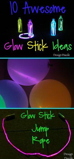 10 awesome glow stick ideas for kids! Design Dazzle #glowsticks