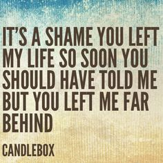 Far Behind: Candlebox