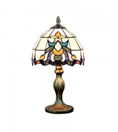 Traditional Stained Glass Barocco Tiffany Living Room Table Lamp