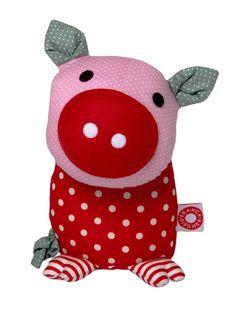 Schwein zum Kuscheln aus Bio-Baumwolle Fabric Toys 654c37de4d62d