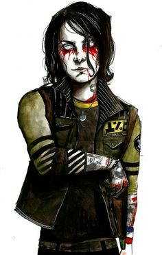 Frank from the danger days era<<< if only they still covered themselves in fake blood during that era...