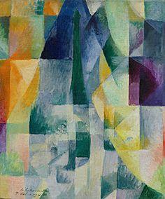 Robert Delaunay, Simultaneous Windows (2nd Motif, 1st Part) (Les fenêtres simultanées [2e motif, 1re partie]), 1912. Collection Online | Browse By Movement | Cubism - Guggenheim Museum