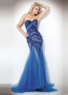 long blue jovani prom dress 2013 Sweetheart Sexy long mermaid gown  embellished with beautiful sequins and a nude underlay with sheer layered  tulle skirt. d0c3e39eeff6