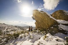 Snow Bouldering in Athens
