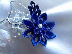 Hair Clip Cobalt Blue Dark Blue Royal Blue by LihiniCreations