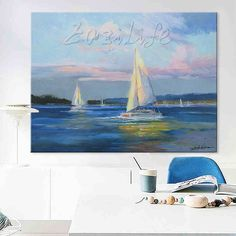 Hand painted canvas oil paintings Cheap large boat modern abstract oil painting wall decor Art pictures for living room 6 Large Painting, Oil Painting Abstract, Abstract Canvas, Hand Painted Canvas, Canvas Frame, Cheap Paintings, Oil Paintings, Cheap Art, Living Room Pictures