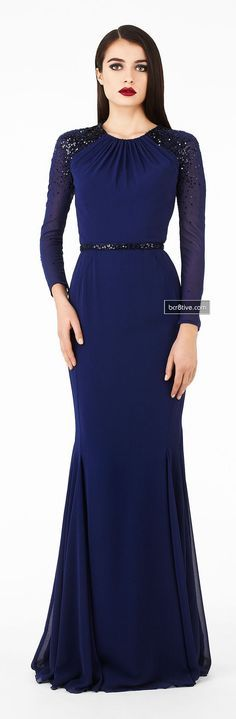 blue maxi dress gown @roressclothes closet ideas women fashion outfit clothing style Georges Hobeika Signature Collection Fall Winter 2013-14