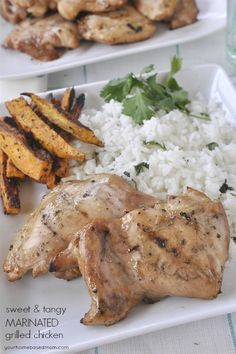 Sweet and Tangy Marinated Chicken - an easy recipe to put together and it is full of great flavor!