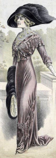 1900s Fashion ~ LÁMINAS VINTAGE,ANTIGUAS,RETRO Y POR EL ESTILO.... (pág. 161)   Aprender manualidades es facilisimo.com
