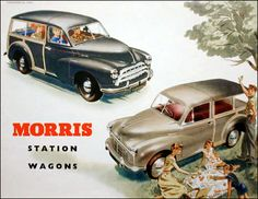 Morris Traveler Station Wagon. (Poster)