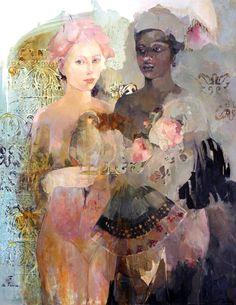 Françoise de Felice Ourika Huile sur toile 81 x 60…