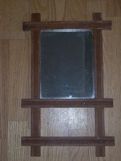 ANTIQUE OAK MIRROR wall hanging antique glass by COTTAGEGOLD, $68.00