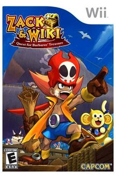Zack & Wiki, the first wii game in the house that was just mine. I don't think I ever beat it