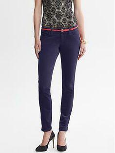 Heritage Velvet Skinny Ankle Zip Pant