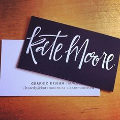 Similar to what I'd like to do for my own - just my name in hand-lettered print.