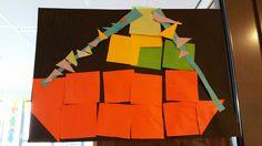 Stoomboot van vierkantjes maken