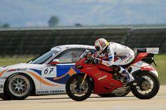 Karel Abraham races the Porsche
