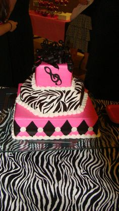 my Granddaughters sweet 16 birthday cake