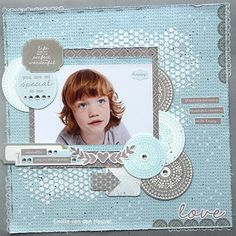 You Are So Special with Secret Garden Kids Scrapbook, Scrapbooking Layouts, Scrapbook Pages, About Me Blog, Girly, Crafty, Frame, Garden, Projects
