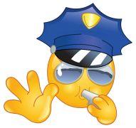 police smiley sticker