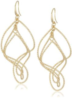 1AR by UnoAerre 18KT Gold Plated Textured Swirl Earrings $150 only