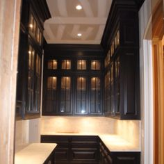 Love the black divided light cabinets!  A dream butlers pantry for sure.