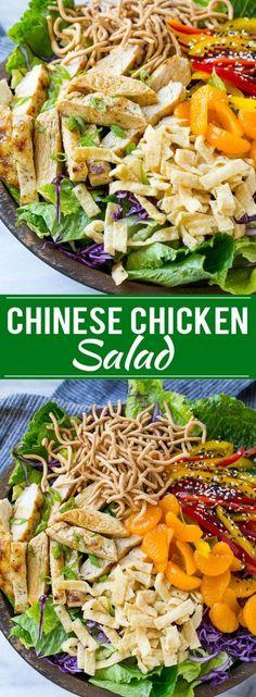 Chinese Chicken Salad Recipe | Asian Chicken Salad | Easy Salad Recipe | Chicken Salad