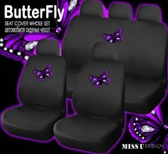 Home Decorating Magazines Free Product Purple Seat Covers, Cheap Car Seat Covers, Car Covers, Car Interior Accessories, Car Accessories For Girls, Car Seats, Truck, Full Set, Lotus Flower