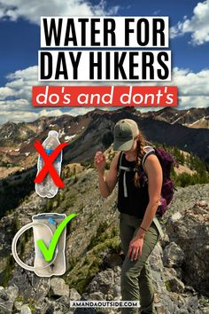 Water on your day hikes - this is such an important topic! Unfortunately, I see so many beginner and experienced hikers out on the trails not prepared when it comes to water. Why is it so important? How much water should you carry on a hike? How do you carry it? What if you run out? Amanda will answer these questions and more in this blog post. Let's get started! Thru Hiking, Camping And Hiking, Backpacking Tips, Hiking Tips, Hiking Essentials, Hiking With Kids, Go Outdoors, Best Hikes, Hiking Equipment
