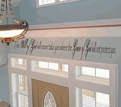 LOVE THIS ONE!!! The Will of God will never take you where the Grace of God will not protect you Vinyl Wall Art Decal