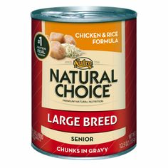 Nutro Natural Choice Chicken & Rice Formula Chunks in Gravy Large Breed Senior Canned Dog Food