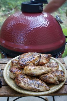 This juicy grilled chicken is brushed with a buttery sauce (no need for a marinade!) and gets a salty tang from Worcestershire sauce and lemon juice. Sauce For Grilled Chicken, Perfect Grilled Chicken, Grilled Food, Summer Recipes, Fall Recipes, Grilling Recipes, Cooking Recipes, Bbq Meals, Healthy Grilling