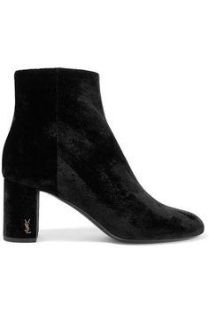 Saint Laurent | Loulou velvet ankle boots | NET-A-PORTER.COM