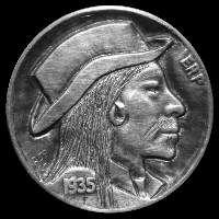 Ralph Perrico Hobo Nickel, Coin Art, Sweet Stuff, Art Forms, Sculpture Art, Buffalo, Coins, Carving, Rooms