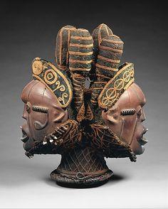 Headdress: Janus (Nkuambok). Date: 19th–20th century. Geography: Nigeria, Cross River region. Culture: Boki peoples.